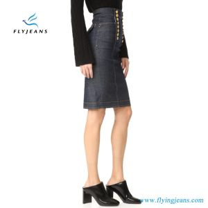Fashion Office Ladies Jeans Skirts Stretch Women Denim Pencil Skirts (E. P. 517) pictures & photos