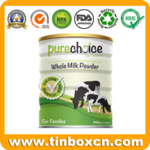 900g Milk Powder Metal Tin Can with PE Plastic Cover pictures & photos