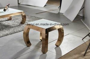 Modern Gold Plated Stainless Steel Sofa Table Side Table End Table Console  Table Living Room Furniture