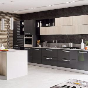 China Modern Simple Wood Modular Kitchen Cabinet Indoor ...