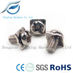 Stainless Steel Pan Head Sem Screw with Square Washer