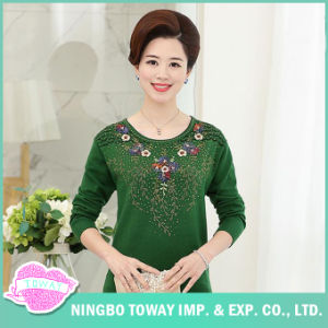 Cable Knit Sweaters Ladies Long Green Knit Cardigan for Women pictures & photos