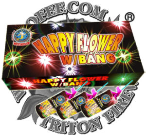 Happy Flower with Crackling Fireworks pictures & photos