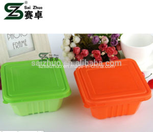 Hot Sale Square Single Compartment Plastic Lunch Box pictures & photos
