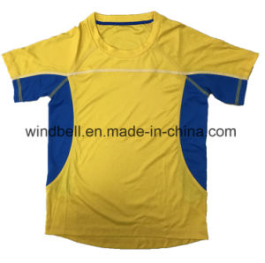 Short Sleeve Sportswear for Youth with Light Interlock and Mesh Fabric pictures & photos