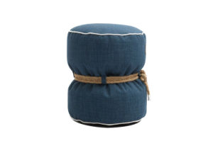 Round Pouf for Fashion Design Ottoman/Stool in Living Room with High Density Polyester Nylon Zipper