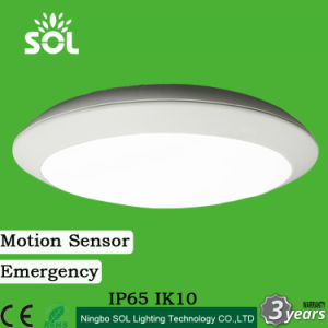 China ip65ik10 12 30w led wall ceiling light with motion sensor and ip65ik10 12 30w led wall ceiling light with motion sensor and emergency 3 hours mozeypictures Gallery