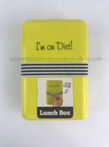 Good Quality Plastic Lunch Box with Elastic Band pictures & photos