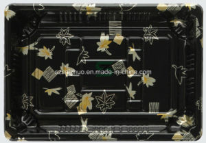 Floral Printed Top Grade Disposable Plastic Sushi Box (S09) pictures & photos