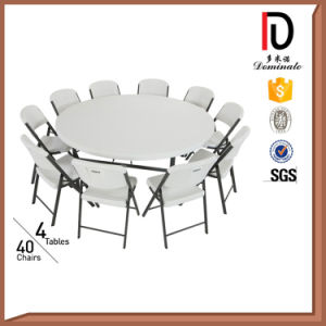 4FT High Qualtity White Plastic Folding Round Table (BR T044)