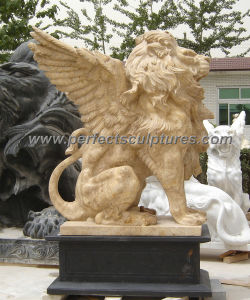 Stone Granite Marble Lion Statue for Garden Animal Sculpture (SY-D060) pictures & photos