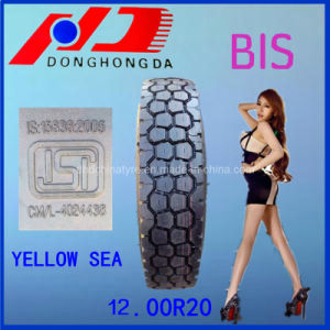 Bis Certificated 12.00R20 Yellow Sea for India Truck Tire