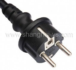 Certificated Power Cord Plug for Germany and European Countries (YS-01A) pictures & photos