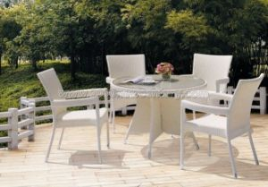 Flat Rattan Table Chair Set (7115)