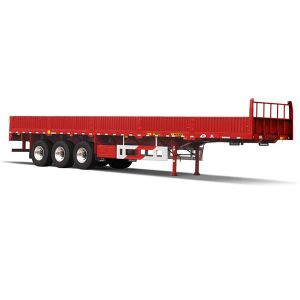 3 Axles 40t Payload Cargo Truck Trailer with Side Wall