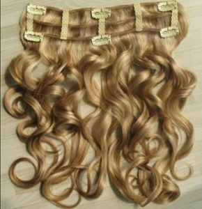 100% Human Hair Clip in Curly Hair Extensions (BWCHE-419)