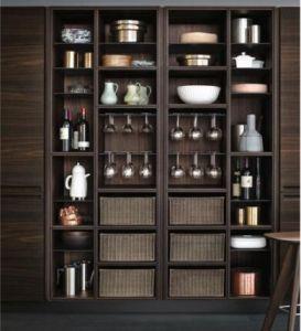 China Glass Wall Cabinet Wood Grain Melamine Modern Kitchen C