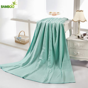 Quick-Dry Solid Color Cotton Soft Towel Blanket pictures & photos