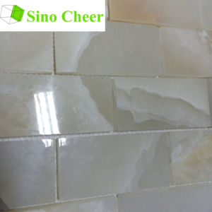 Decorarive Building Material Subway White Onyx Mosaic Tiles pictures & photos