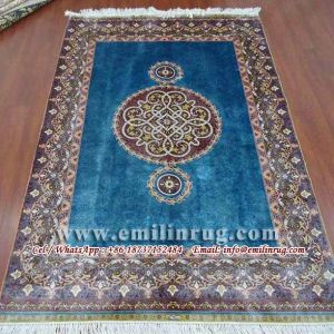 Hand Knotted Persian Silk Rugs Sale 4X6