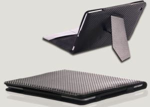 Carbon Fiber Stand Case for iPad 2/3 (KT-01013)