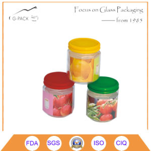 Clear Glass Jar with Twist off Cap and Printing Label pictures & photos