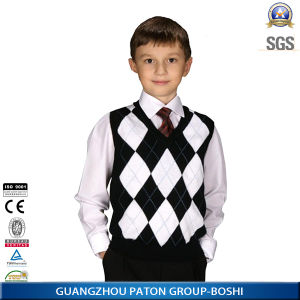 School Uniform Vest and Shirt for Boys and Girls -Ll-39 pictures & photos