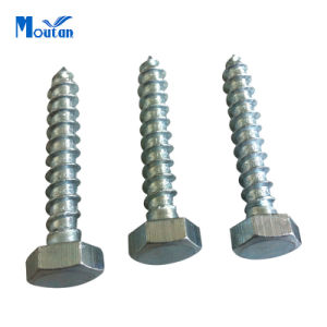 Carbon Steel Hex Lag Wood Screws with DIN571 Zinc Plated