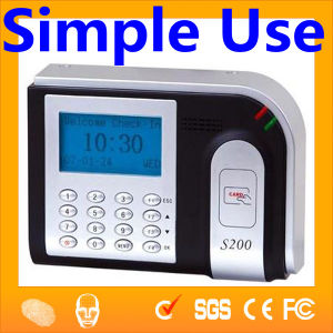 China Bio Metric Punch Card Machine Time Attendance Machine