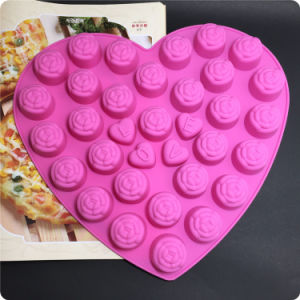 30 Silicone Tray Pop Cake Stick Mould with 4 Love Chocolate Cake Mould pictures & photos