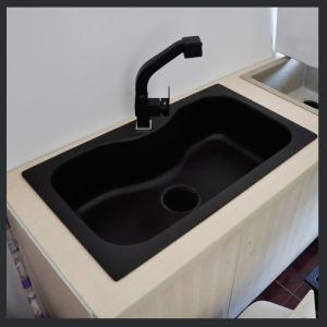 Single Bowl Black Quartz Kitchen Sinks