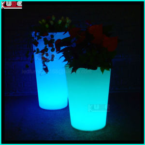 Tapered Square Tango Disco Illuminated Indoor Outdoor Planter pictures & photos