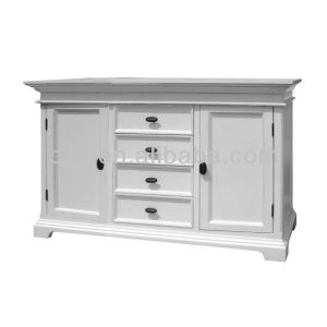 Wh-4032 140cm 150cm French Style Classic White Furniture Wooden Sideboard Cabinet pictures & photos