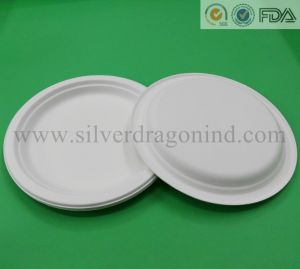 Compostable Biodegradable Sugarcane Pulp Paper Plate & China Compostable Biodegradable Sugarcane Pulp Paper Plate - China ...
