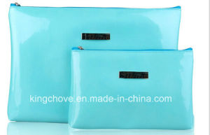 Shiny Blue PU Fashion Latest Cosmetic Bag (KCC189)