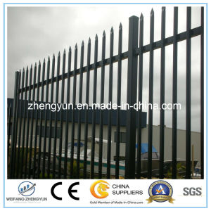 Powder Coated Blunt Top Fence Garden Fence