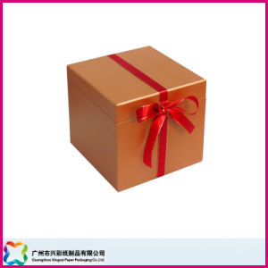 Gift Packaging Box with Ribbon Closure (XC-1-040) pictures & photos