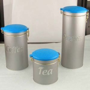 Metal Round Tin Box with Clear Window (NC2002B)