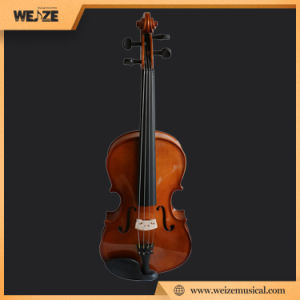 Shine Yellow Brown Color Solid Wood Viola pictures & photos