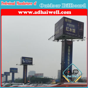 Outdoor LED Frontlit Three Faces Advertising Billboard Structure pictures & photos