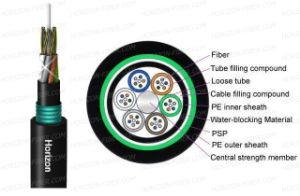 Non-Metallic Strength Member Loose Tube Double Jacket Single Armored Fiber Optic Cable (GYFTY53)