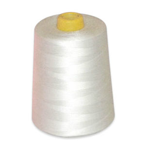 Raw White 100% Spun Polyester Sewing Thread pictures & photos