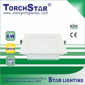 6W Square Aluminum SMD 450lm LED Panel Light