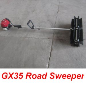 Sw350 Brush Road Sweeper 4-Cycle Gx35 Road Sweeper pictures & photos
