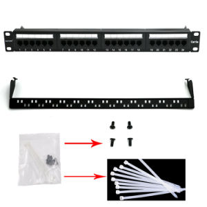 UTP 19 Inch Cat5e Network Wall Mount Patch Panel 24 Port Black / Grey / Lvory pictures & photos