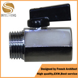 Brass Mini Ball Valve with Chrome Plated pictures & photos