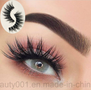 1 Pair Mink Hair Cruelty Free False Eyelash Stylish Curly Black Long Handmade Lash pictures & photos
