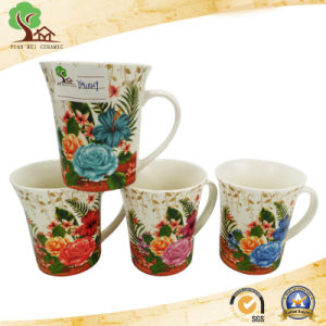 Beautiful Flower Decal Ceramic Coffee Mug for Wedding Gift pictures & photos