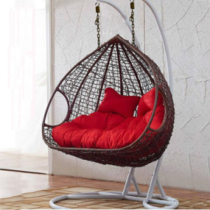 New Outdoor Swing Egg Chair, PE Rattan Furniture, Rattan Basket Double Seater (D151C) pictures & photos
