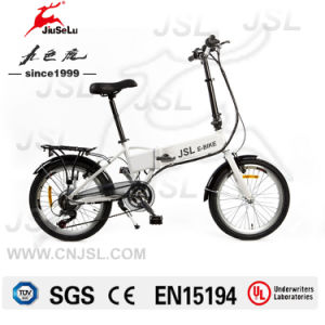 "20"" 36V White Portable Folding Electric Cycles With CE (JSL039B-6) pictures & photos"